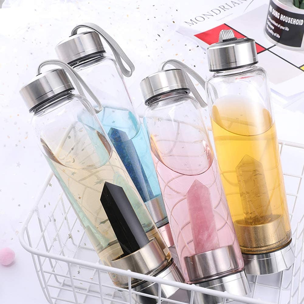 ChezMax Crystal Glass Water Bottle