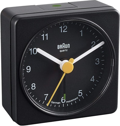 BNC002 Classic Travel Alarm Clock, Black
