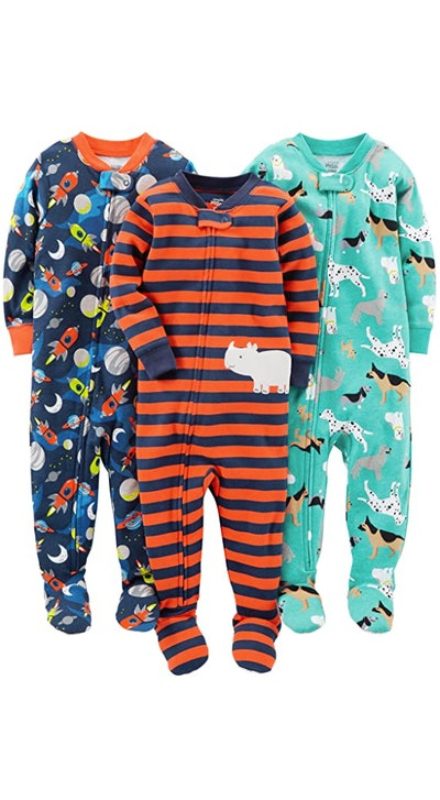 Simple Joys by Carter's Footed Cotton Pajamas (3-Pack)