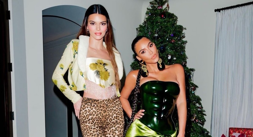 Kendall Jenner's leopard pants and yellow tube top are an untraditional way to do NYE dressing