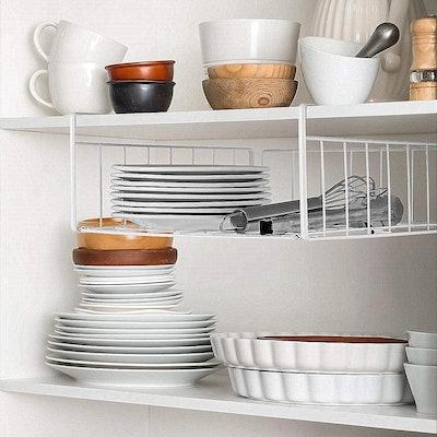 SimpleTrending Under Cabinet Organizer Shelves (2-Pack)