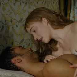 Daphne Bridgerton and Simon Basset in the Netflix adaptation of The Duke and I.