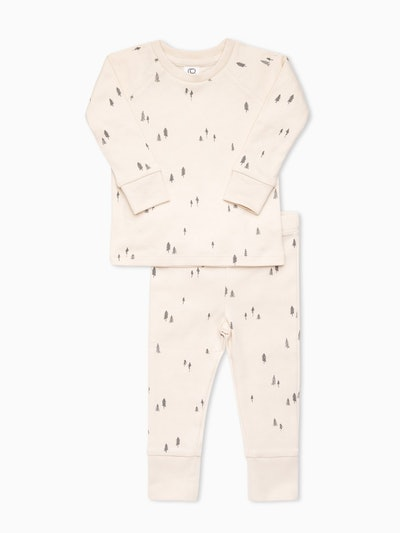 Organic Kids' Long Sleeve Jammies in Spruce