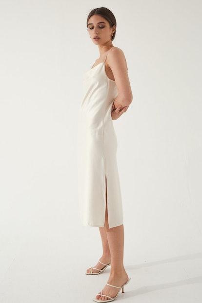 Draped Slip Dress