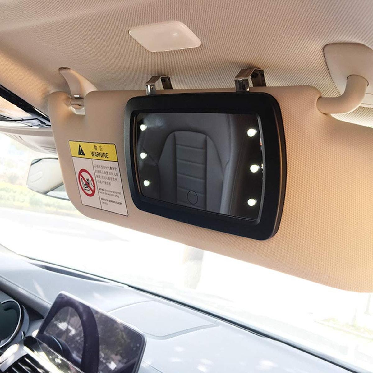 QIXI Car Sun Visor Mirror with LED Lights