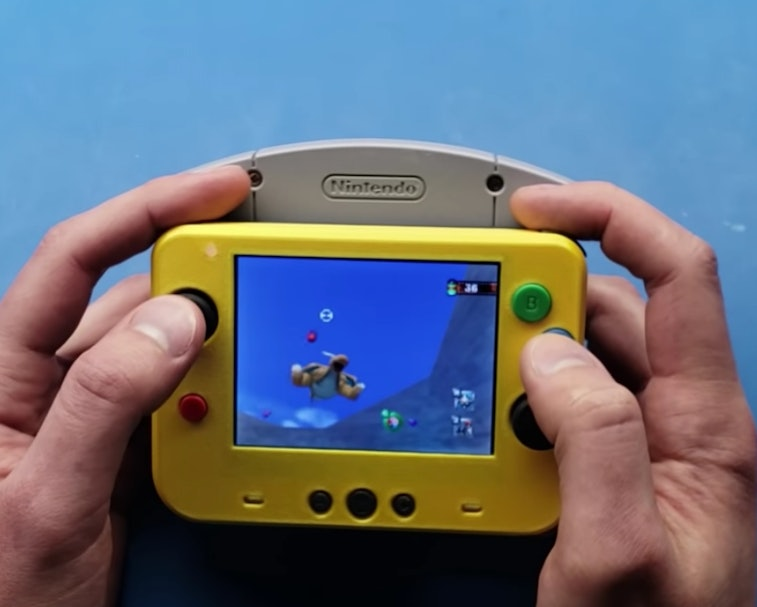 YouTube user GmanModz converted a Nintendo N64 into a handheld console.