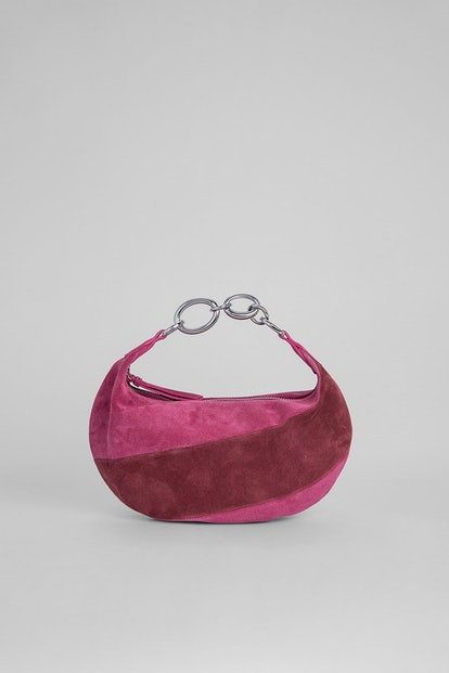 Bougie Fuchsia And Dark Brown Suede