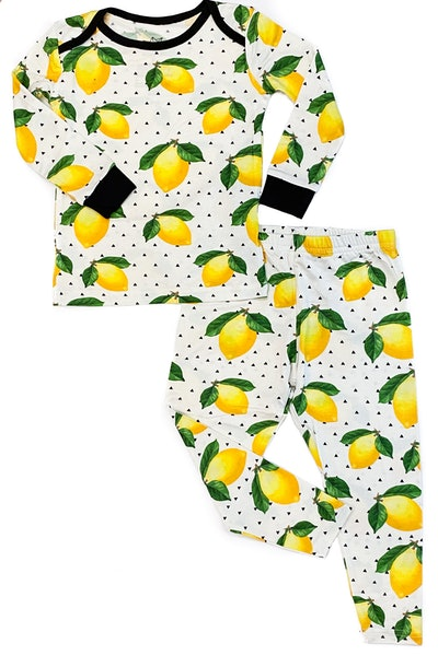 Lemons Bamboo Two-Piece Pajamas