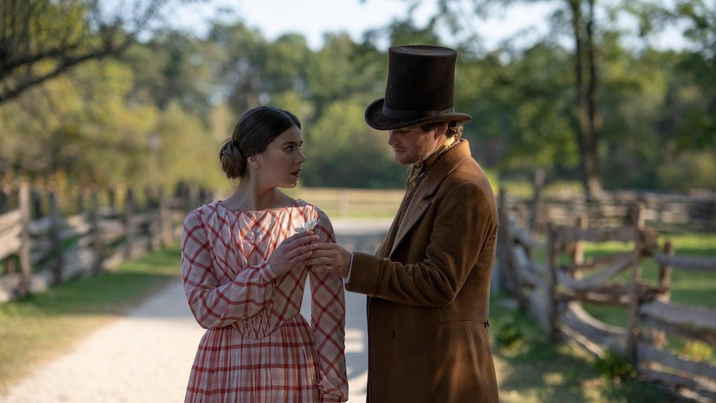 Hailee Steinfeld and Finn Jones in 'Dickinson'