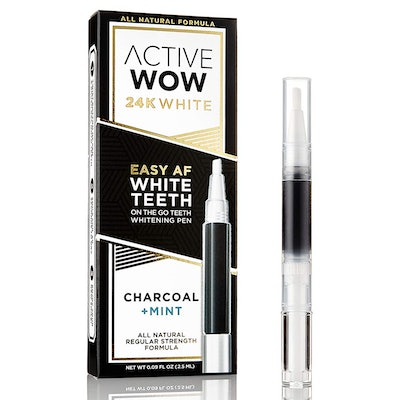 Active Wow Teeth Whitening Pen with Organic Charcoal & Mint Oil