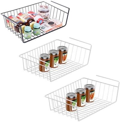 CECOUDG Under Shelf Basket (3 Pack)