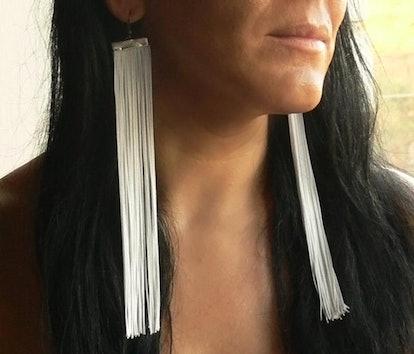 LiLaJewelry4You White Fringe Earrings