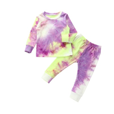 Taylor Tie-Dye Ribbed Pajama Set in Purple