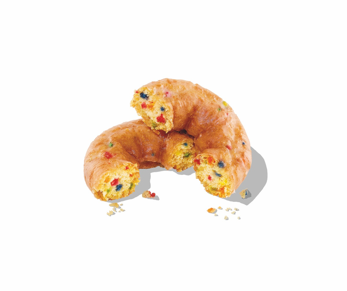 Dunkin's new Dunkfetti donut will be available on the January 2021 menu.