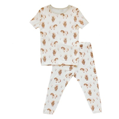Mini Horses Short Sleeve Pajama Set