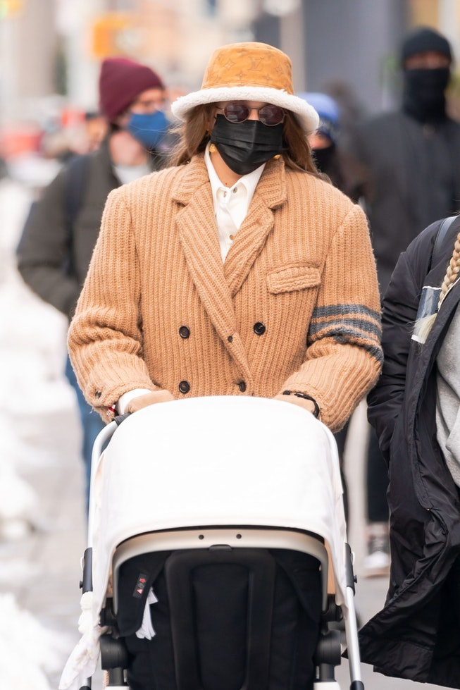 Gigi Hadid is seen in NoHo on December 19, 2020 in New York City.