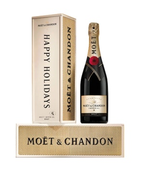 """Moët & Chandon Impérial Brut with """"Happy Holidays"""" Gift Box"""
