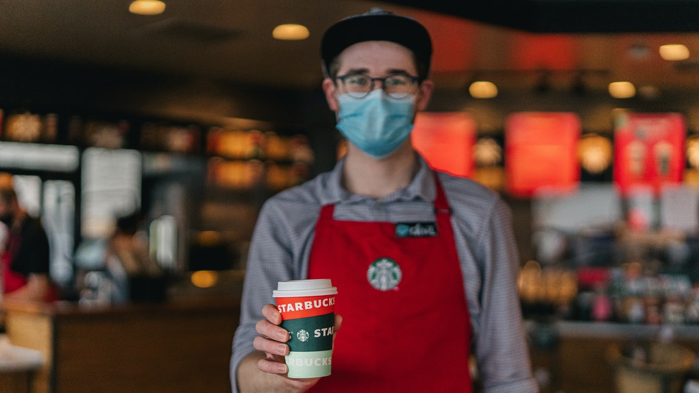 Starbucks' free coffee for front line workers deal in December 2020 is here to help.