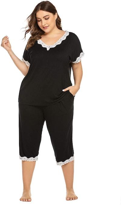IN'VOLAND Women's Plus-Size Pajama Set