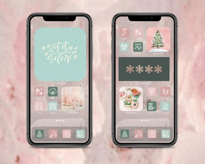 Dreaming Of A Pink Christmas iOS 14 Home Screen Pack