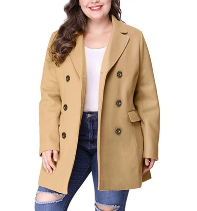 Agnes Orinda Double-Breasted Long Coat