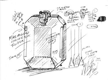 Macallan x Urwerk flask sketch