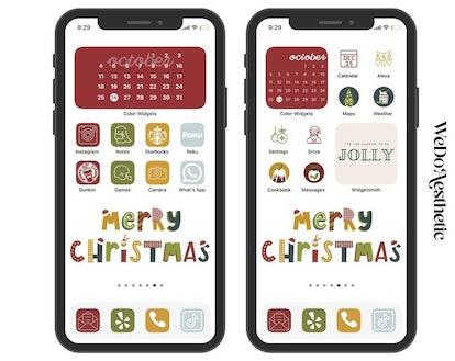 Merry Christmas iOS 14 Home Screen Design Pack