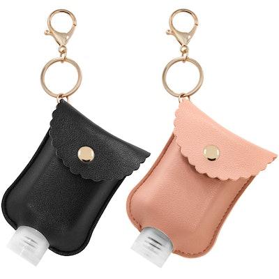 Hzran Hand Sanitizer Key Chain Pouches (2-Pack)
