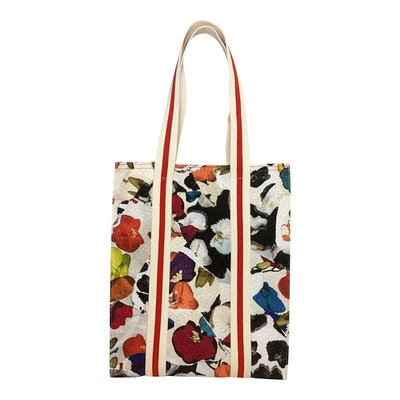 Abstract Orchid Jacquard Shopper
