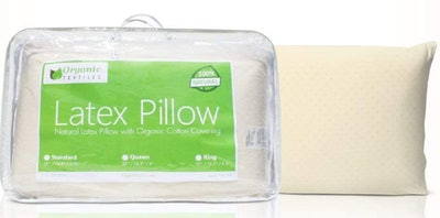 OrganicTextiles Hypoallergenic Latex Pillow