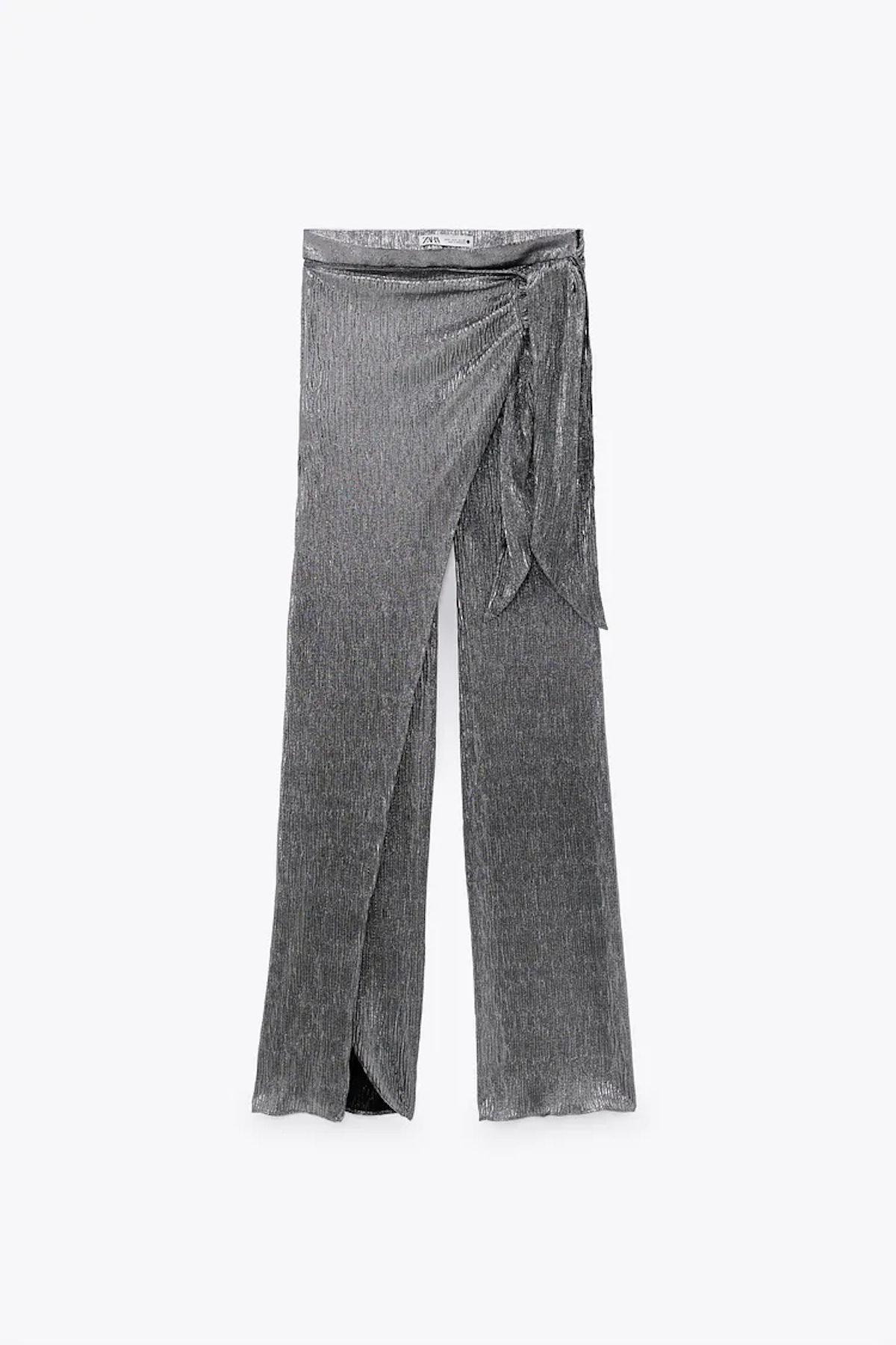 Sparkly Wrap Front Pants