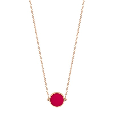 Mini Ever Coral Disc Necklace