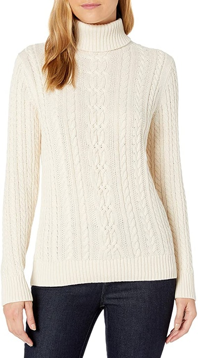 Amazon Essentials Fisherman Cable Turtleneck Sweater