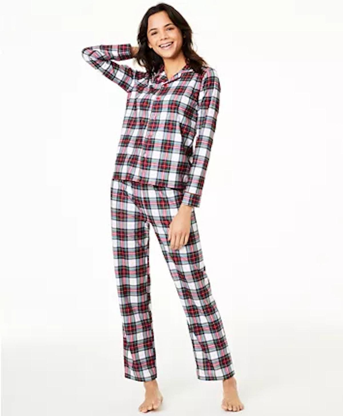 Macy's Matching Women's Stewart Plaid Family Pajama Set