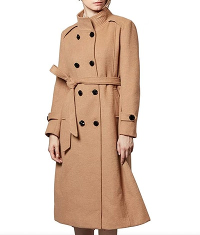 Escalier Double-Breasted Trench Coat with Belt