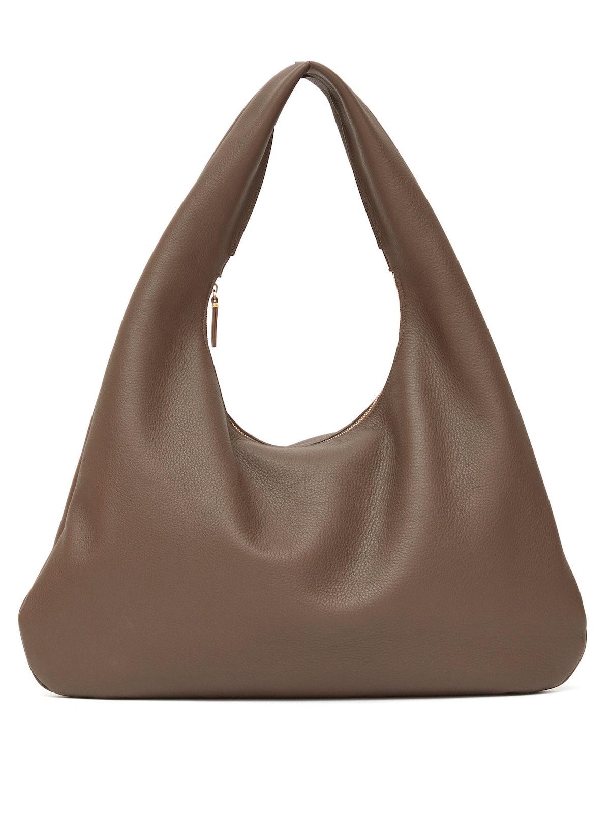 Everyday Grained-Leather Shoulder Bag