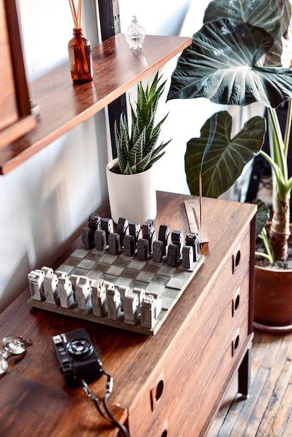 Concrete Chess Set