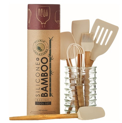 Bamboo & Silicone Baking Tools Set (6-Pieces)