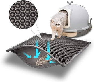 Pieviev Cat Litter Mat
