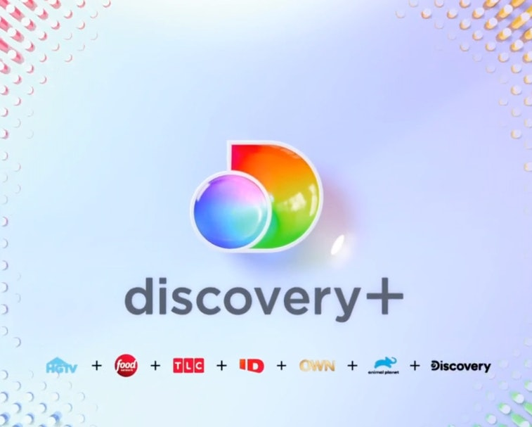 The Discovery+ logo above the logos of its networks.
