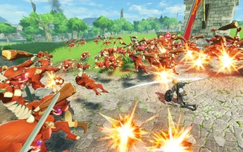 hyrule warriors age of calamity link bokoblins