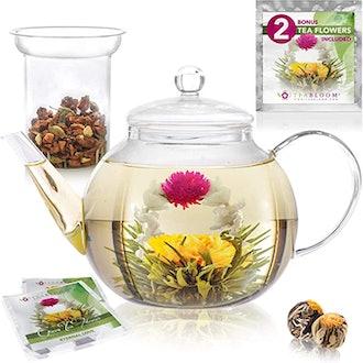 Teabloom Glass Tea Pot