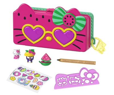 Mattel Hello Kitty and Friends Minis Watermelon Beach Party Pencil Case Playset
