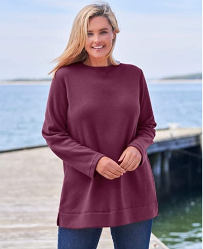 Woman Within Plus Size Fleece Tunic