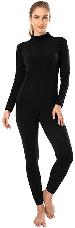 MANCYFIT Turtleneck Thermal Underwear Set