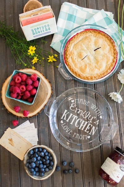 Engraved Pie Plate