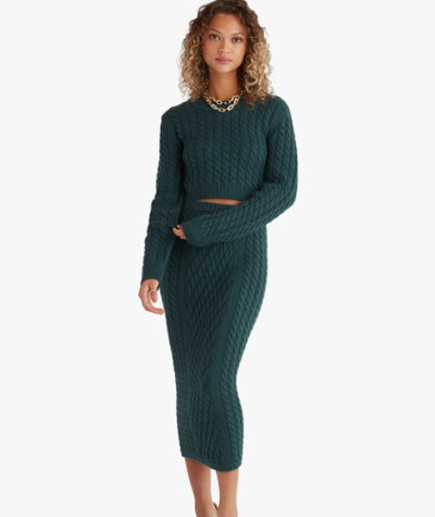 CABLE KNIT PENCIL SKIRT