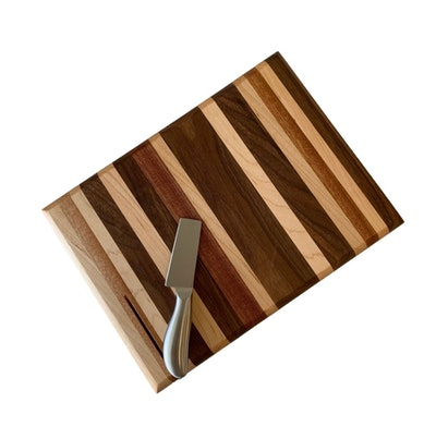 Charcuterie Board with Stainless Steel Cheese Knife