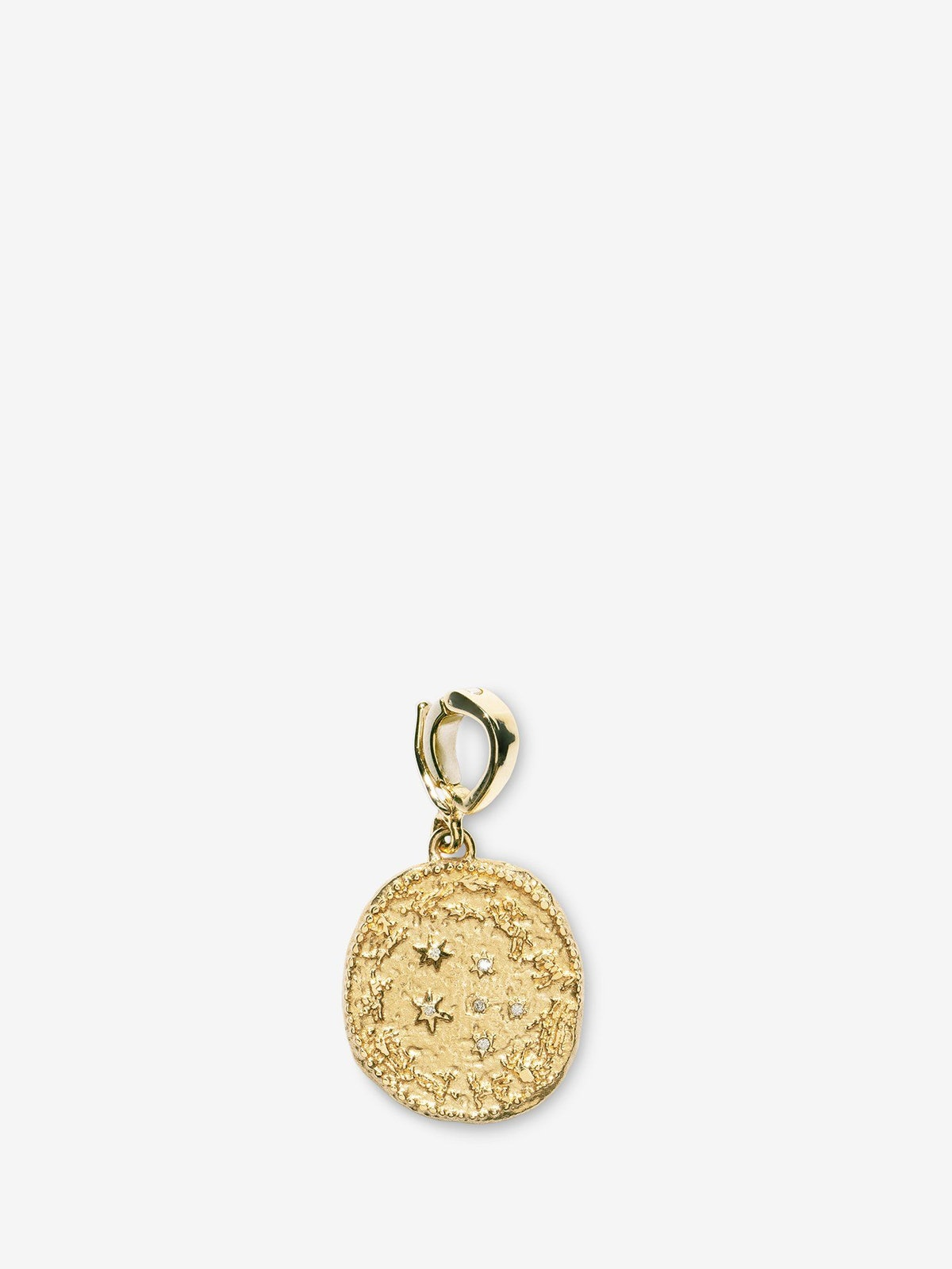 Zodiac Small Diamond Coin Charm