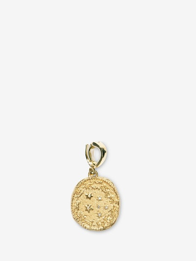 Zodiac Small Diamond Coin Charm